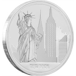 NEW YORK - GREAT CITIES - 2017 1 oz Pure Silver Coin - NZ MINT