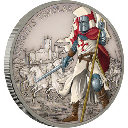 KNIGHTS TEMPLAR - WARRIORS OF HISTORY 2017 1 oz Silver Coin - Niue