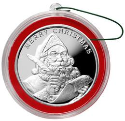 2016 Santa Claus Christmas Round Silver 1 oz .999