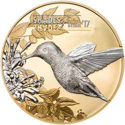 HUMMINGBIRD Shades of Nature Silver Coin 5$ Cook Islands 2017