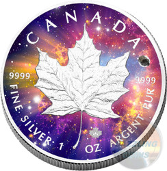 MAPLE LEAF Cosmic Investment 1 oz Silver Coin Canada 2016