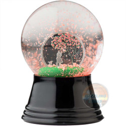 CHERRY BLOSSOM GLOBE with inserted Silver Coin 1$ Cook Islands 2017
