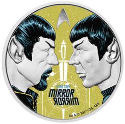 STAR TREK - MIRROR, MIRROR 1 oz Pure Silver Proof Coin Tuvalu 2017