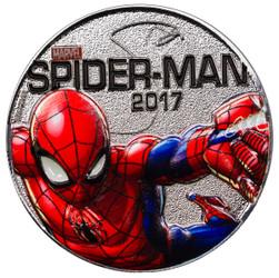 SPIDER-MAN - MARVEL LIGHT-UPS - ILLUMINATING COIN SERIES - 2017 Silver Plated $0.50 Coin - Fiji