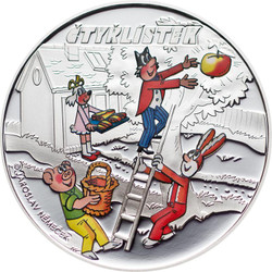 Cook Islands $1 2012 Proof Ctyrlistek Friends Cartoons