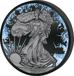 Deep Frozen LIBERTY 1 oz Silver Ruthenium & Platinum PL Coin 2017