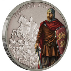 BATTLE OF HASTINGS Battles of History 1 Oz Silver Coin 2$ Niue 2018