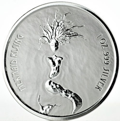 MERMAID RISING 1 Oz Silver Coin 1$ Fiji 2018