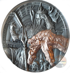 HADES Gods of Olympus 2 Oz Silver Coin 5$ Niue 2018