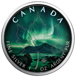 NORTHERN LIGHTS - NORTHWEST TERRITORIES - 1 oz Silver Coin - Canadian Maple Leaf 2018