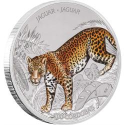 JAGUAR Wildlife 1 Oz Silver Coin 100 Cordobas Nicaragua 2018