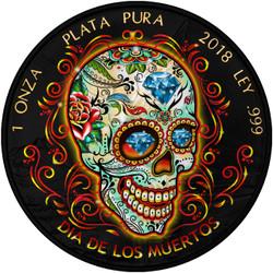 DAY OF THE DEAD – DIA DE MUERTOS – 2018 1 OZ LIBERTAD SILVER COIN