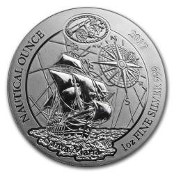 CHRISTOPHER COLUMBUS FLAGSHIP Nautical Ounce Santa Maria 1 oz Silver BU Coin 2017