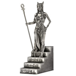 BASTET - Goddess of Protection - 11 oz Solid Silver 3D STATUE