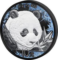 DEEP FROZEN PANDA 1 OZ SILVER RUTHENIUM & PLATINUM PL COIN 2018