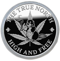 TOKING BEAVER –THE True North High & Free 1 OZ Silver Proof – BEAVER BULLION