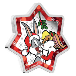 CHRISTMAS Looney Tunes 1 Oz Silver Coin 1$ Tuvalu 2018