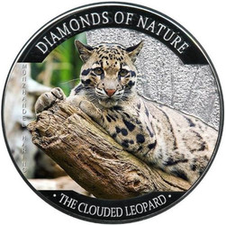 Clouded Leopard Silver Proof $10 Fiji 2013