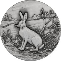 Mountain Hare Ultra High Relief 1 oz Silver Coin 2015 Niue