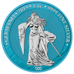 2019 GERMANIA Space Blue 5 Mark 1 Oz .9999 Silver Round