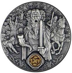 SVETOVID Thunder Slavic Gods 2 Oz Silver Coin 2$ Niue 2019