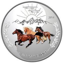 Tokelau 2014 Proof Silver 1 oz. Three Horses YING YANG