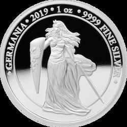 2019 GERMANIA Proof 5 Mark 1 Oz .9999 Silver Round