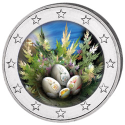 2019 Easter Colored Coin 2 EURO with OGP