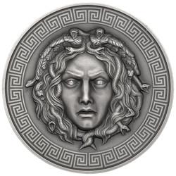 MEDUSA Diamond eyes Silver coin 3 oz AF 3000 FR Cameroon 2019