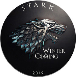 STARK Winter Coming Game of Thrones GOT Walking Liberty 1 Oz Silver Coin