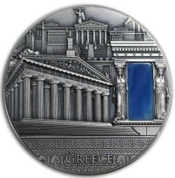 GREEK Imperial Art Citrine Crystal 2 Oz Silver Coin 2018 Niue