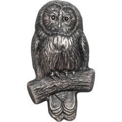 URAL OWL 3D shaped 2 Oz Silver Coin 1000 Togrog Mongolia 2019