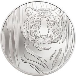 HIDDEN TIGER Silver Coin 250 Togrog Mongolia 2019