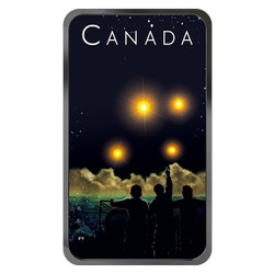 THE SHAG HARBOUR INCIDENT – 1 oz Silver Glow-in-the-Dark Coin Canada 2019