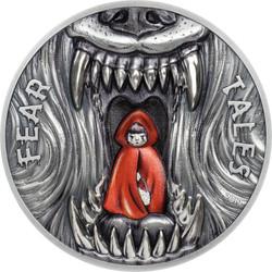 LITTLE RED RIDING HOOD Fear Tales 2 oz Silver Coin $10 Palau 2019