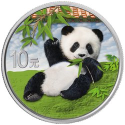 PANDA Day 30 g Silver Color Coin set China 2020