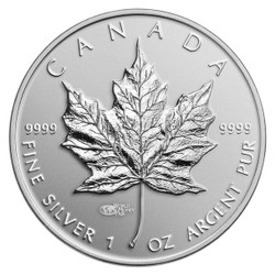MAPLE Leaf bullion with WMF privy mark $5 Silver .9999 coin Canada 2014