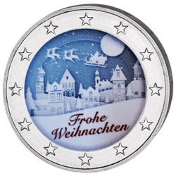 2 Euro White Night Colored Coin 2019