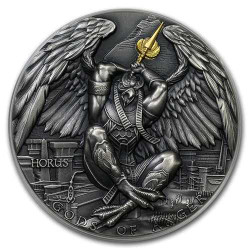 HORUS - Gods of Anger 2 oz Silver Ultra High Relief Coin 2020 Niue