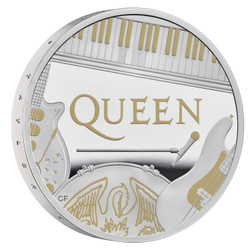 GREAT BRITAIN QUEEN  'Music legends' series  1 oz Silver Proof Coin £2 UK 2020