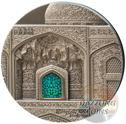 TIFFANY ART Safavid 2 Oz Silver Coin 10$ Palau 2020