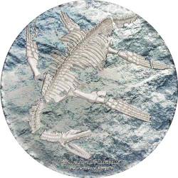 PLESIOSAURIA Prehistoric Beast 3 oz Silver Coin 2000 Togrog Mongolia 2020