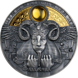 AMUN-RA Divine Faces Of The Sun 3 oz Silver Coin 5$ Niue 2020