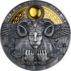 AMUN-RA Divine Faces Of The Sun 3 oz Silver Coin 5$ Niue 2020