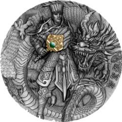 ZHUGE LIANG Famous Chinese Warriors 2 Oz Silver Coin Niue 2020