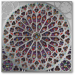 ROSE WINDOW OF NOTRE DAME Silver Coin Solomon Islands 2019