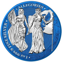 GERMANIA & COLUMBIA 2019 – The Allegories Space Blue 5 Mark 1 oz Silver Coin