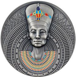 NEFERTITI Queen of Antiquity 3 oz Silver Coin Niue 2020