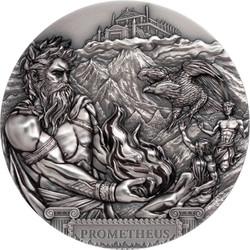 TITAN PROMETHIUS 3 Oz Silver Ultra high relief Coin Cook Islands 2020