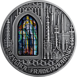 BASILICA OF ST FRANCIS OF ASSISI in Cracow 2 oz Silver Coin Cameroon 2020